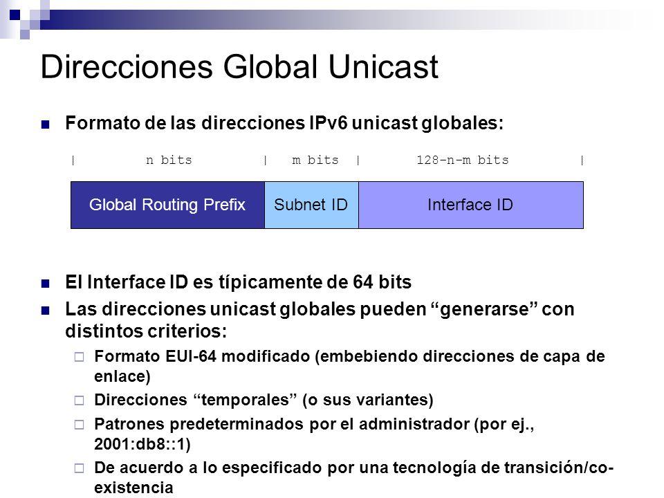 Direcciones Global Unicast