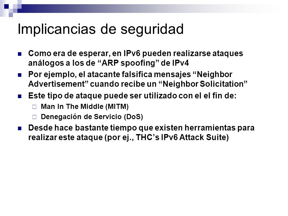 Implicancias de seguridad
