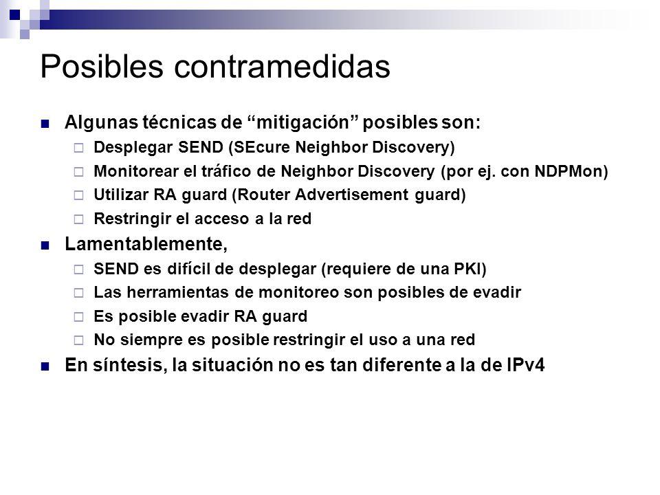 Posibles contramedidas