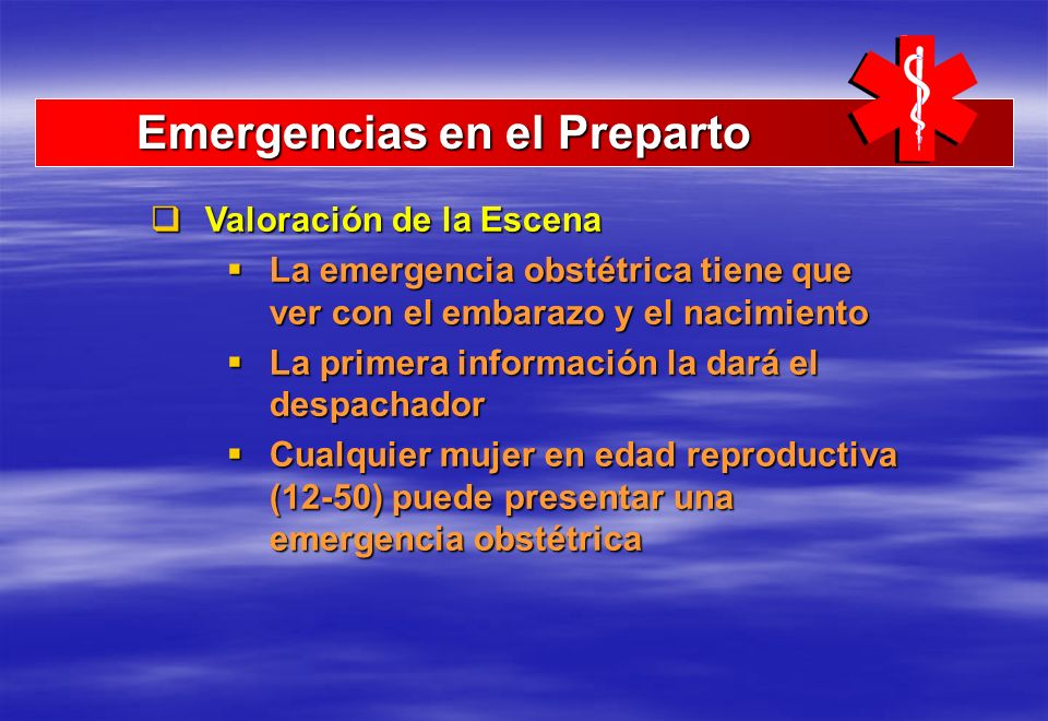 Emergencias en el Preparto