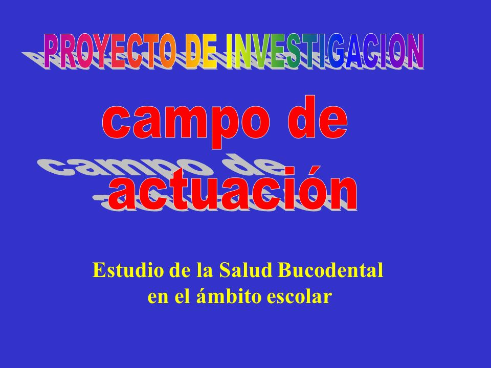 Estudio de la Salud Bucodental