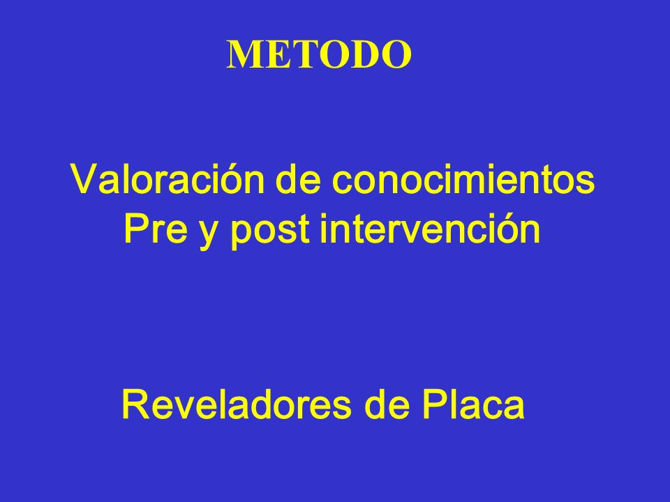 Valoración de conocimientos Pre y post intervención