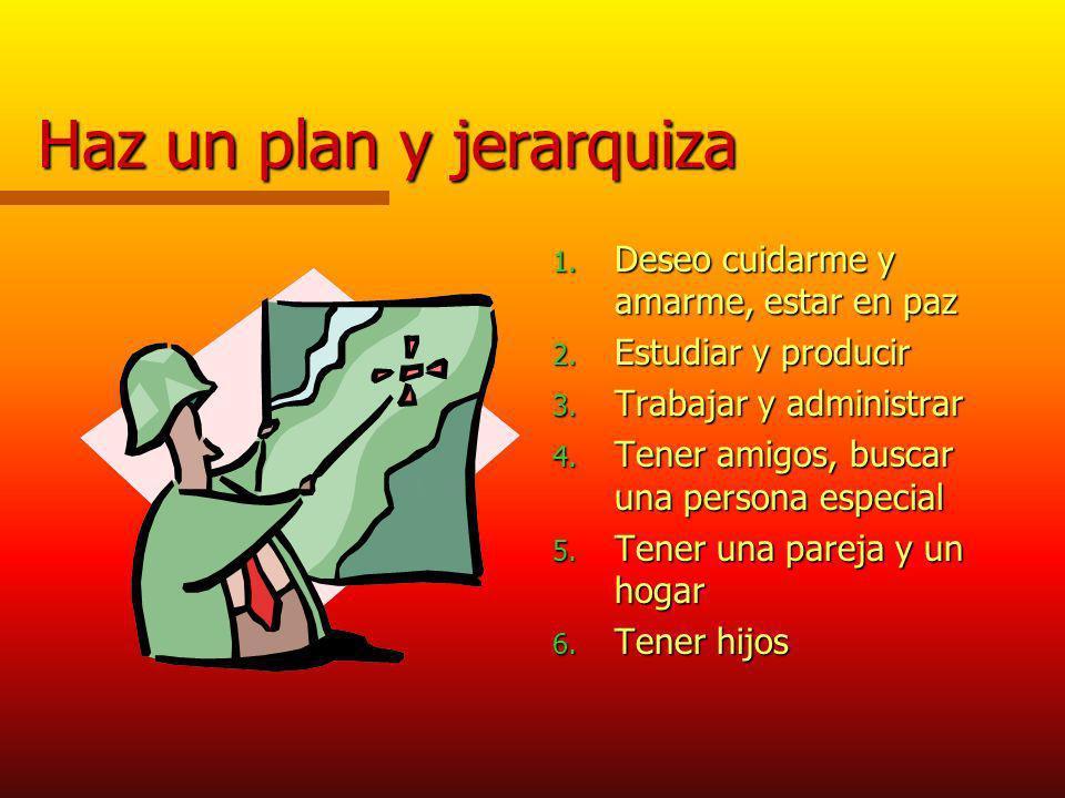 Haz un plan y jerarquiza