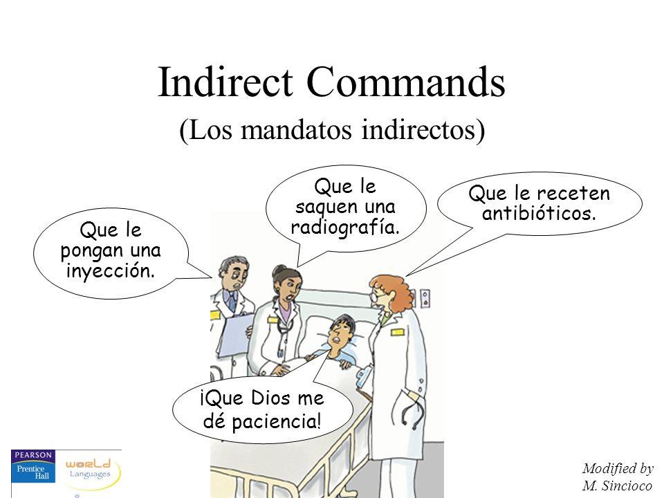 Indirect Commands (Los mandatos indirectos)
