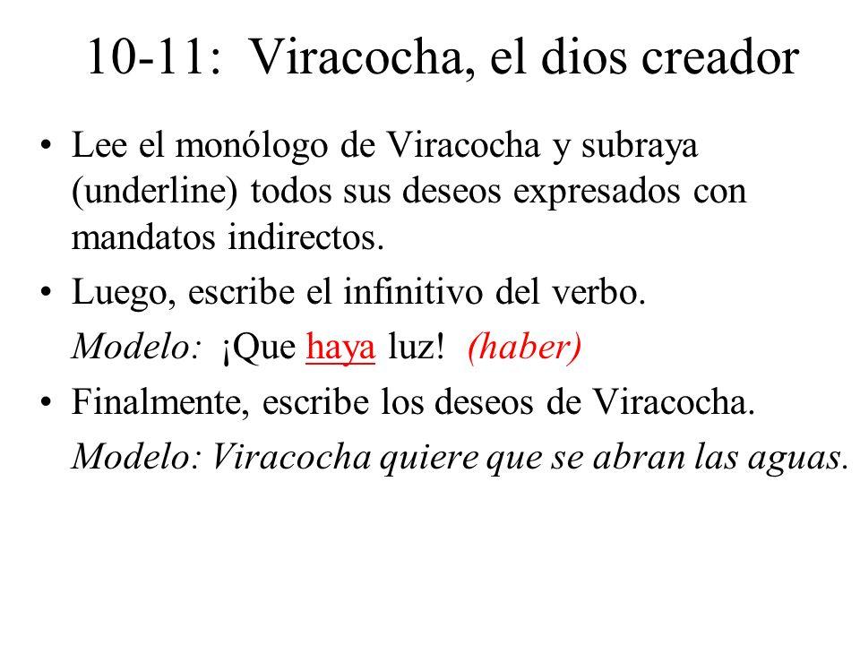 10-11: Viracocha, el dios creador
