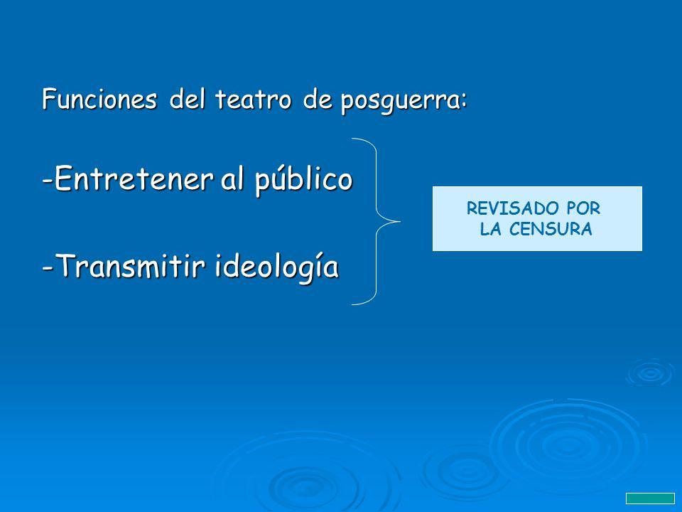-Entretener al público -Transmitir ideología