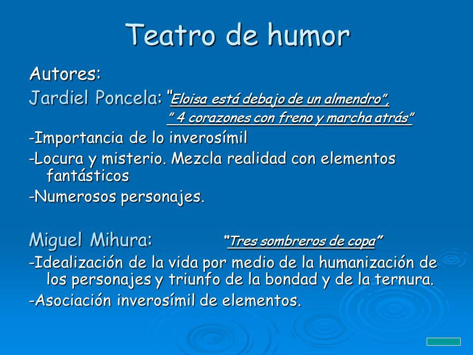 Teatro de humor Autores: