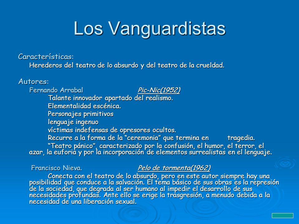 Los Vanguardistas Características: Autores: