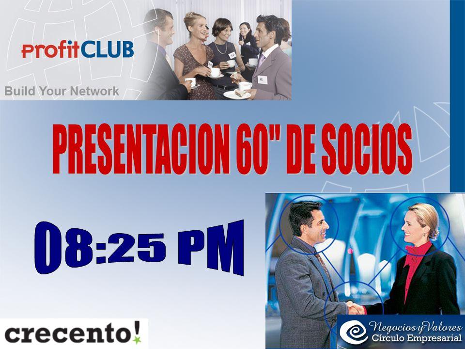 PRESENTACION 60 DE SOCIOS