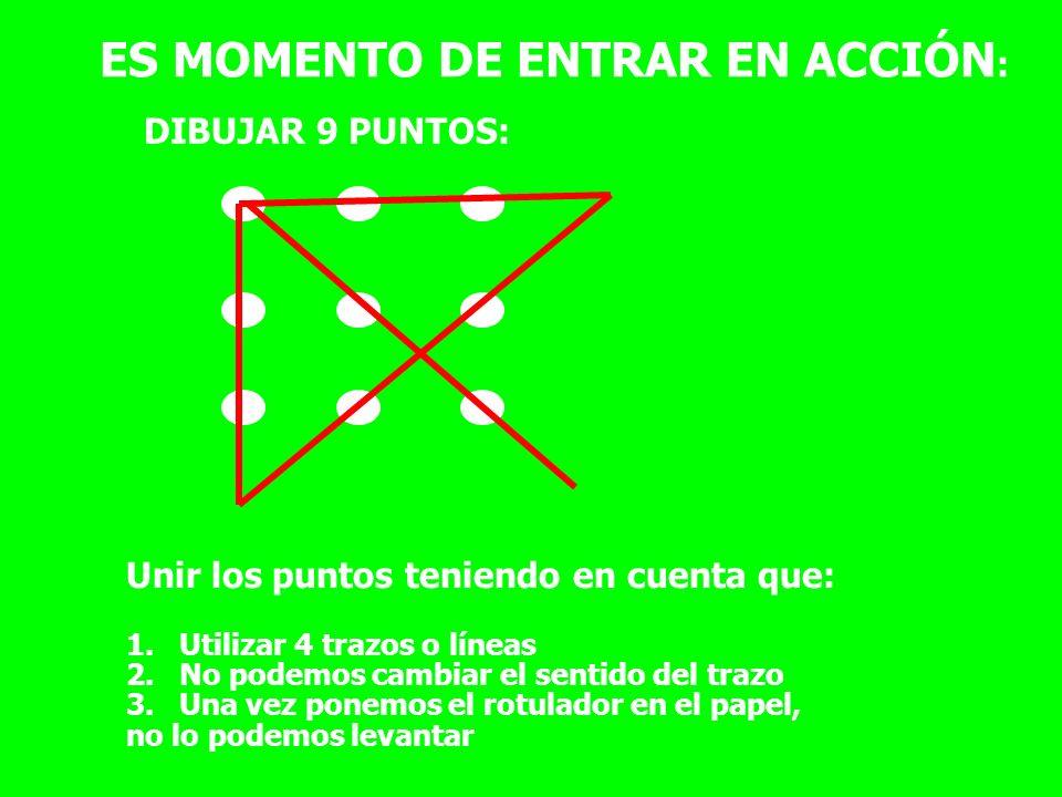 ES MOMENTO DE ENTRAR EN ACCIÓN: