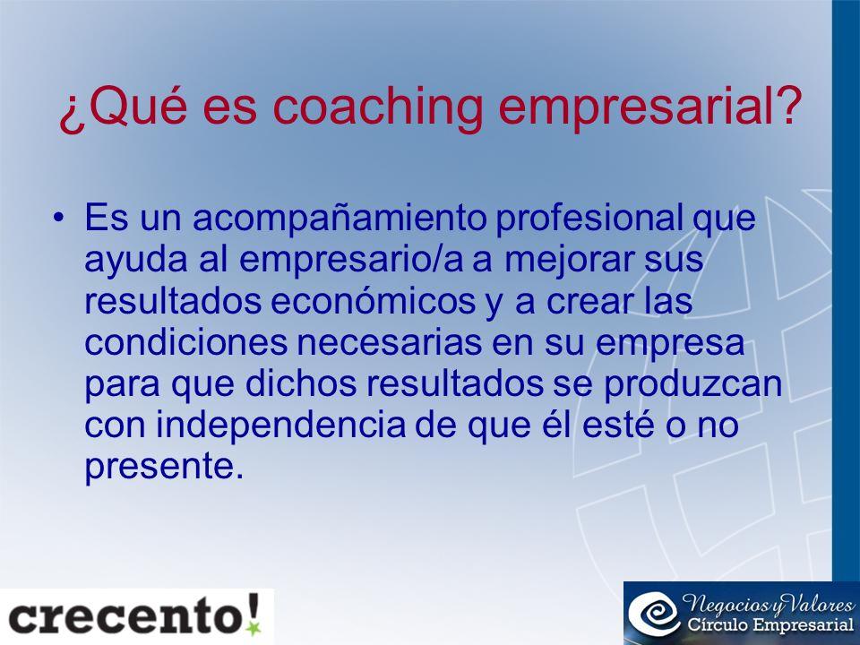 ¿Qué es coaching empresarial