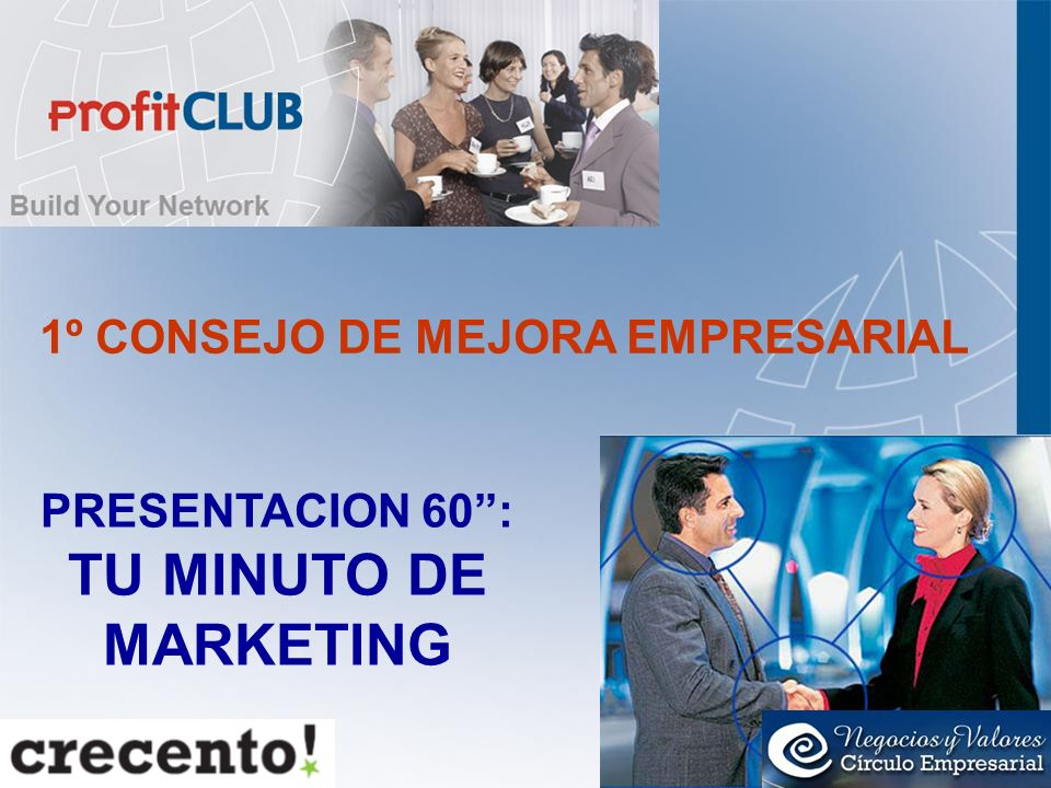 PRESENTACION 60'': TU MINUTO DE MARKETING