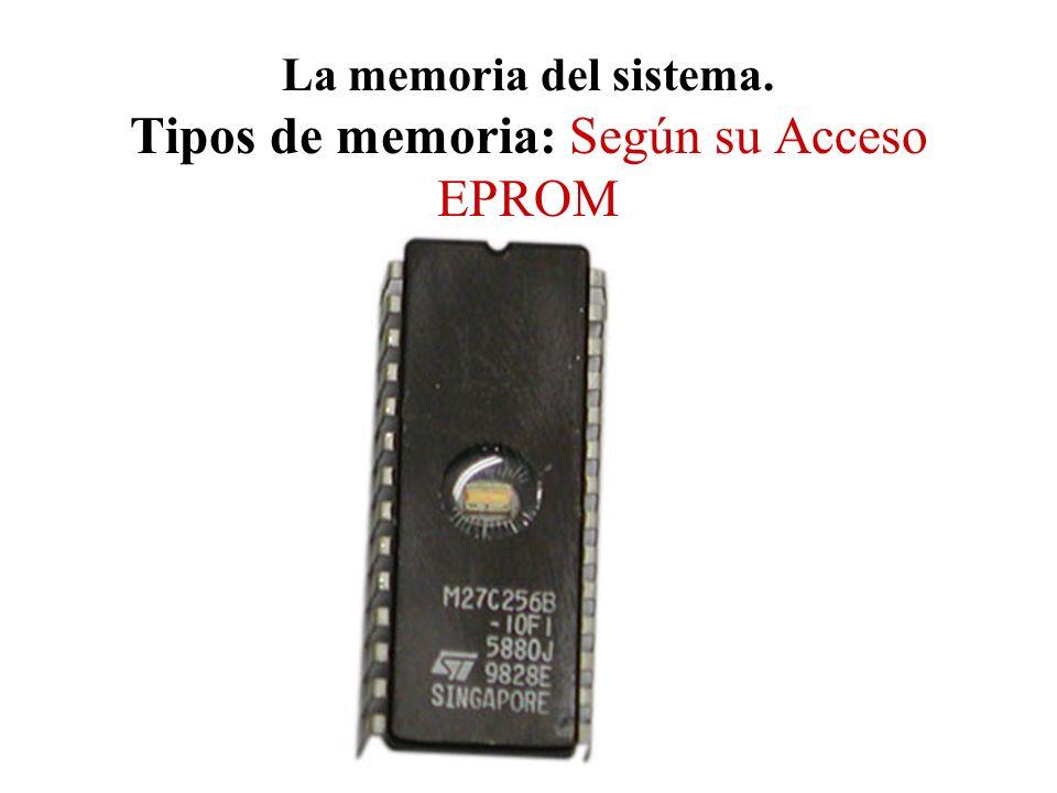 La memoria del sistema. Tipos de memoria: Según su Acceso EPROM