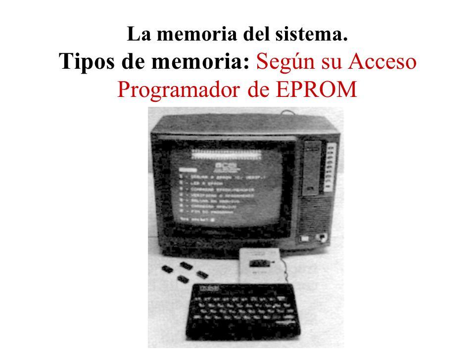 La memoria del sistema. Tipos de memoria: Según su Acceso Programador de EPROM