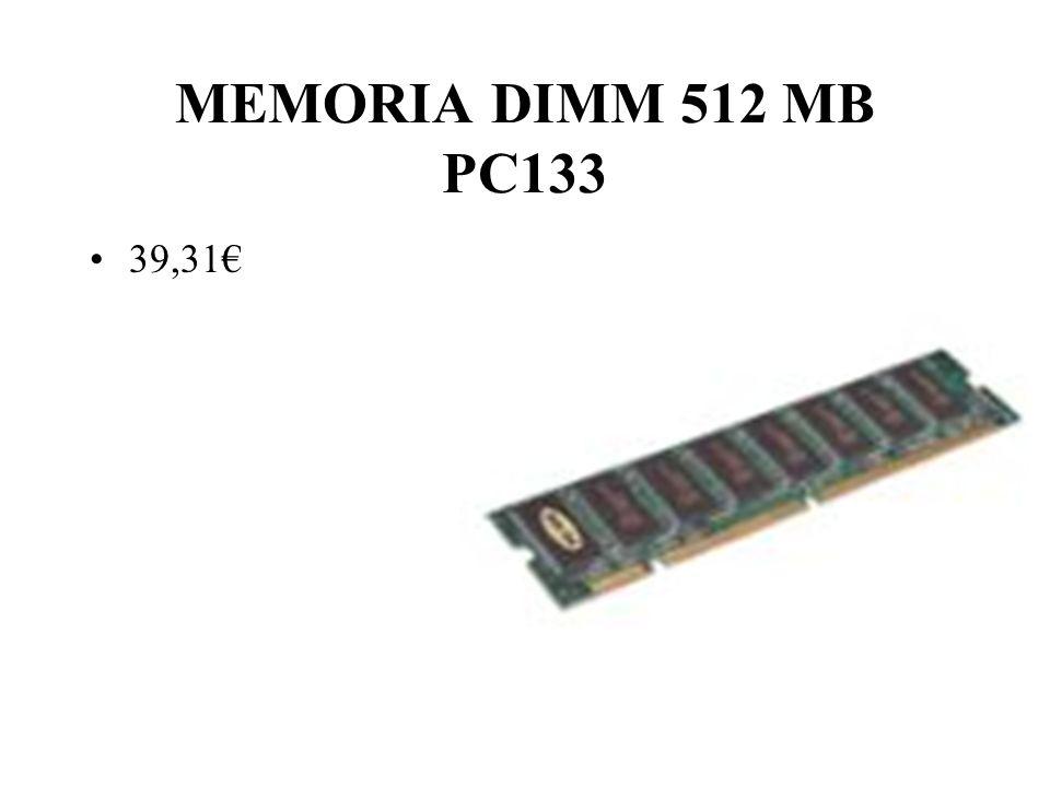 MEMORIA DIMM 512 MB PC133 39,31€