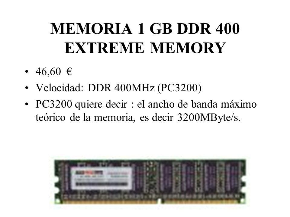 MEMORIA 1 GB DDR 400 EXTREME MEMORY
