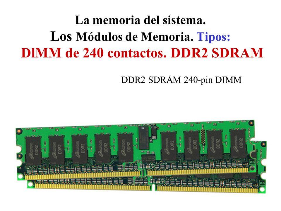La memoria del sistema. Los Módulos de Memoria