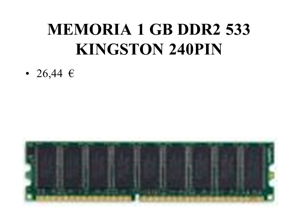 MEMORIA 1 GB DDR2 533 KINGSTON 240PIN