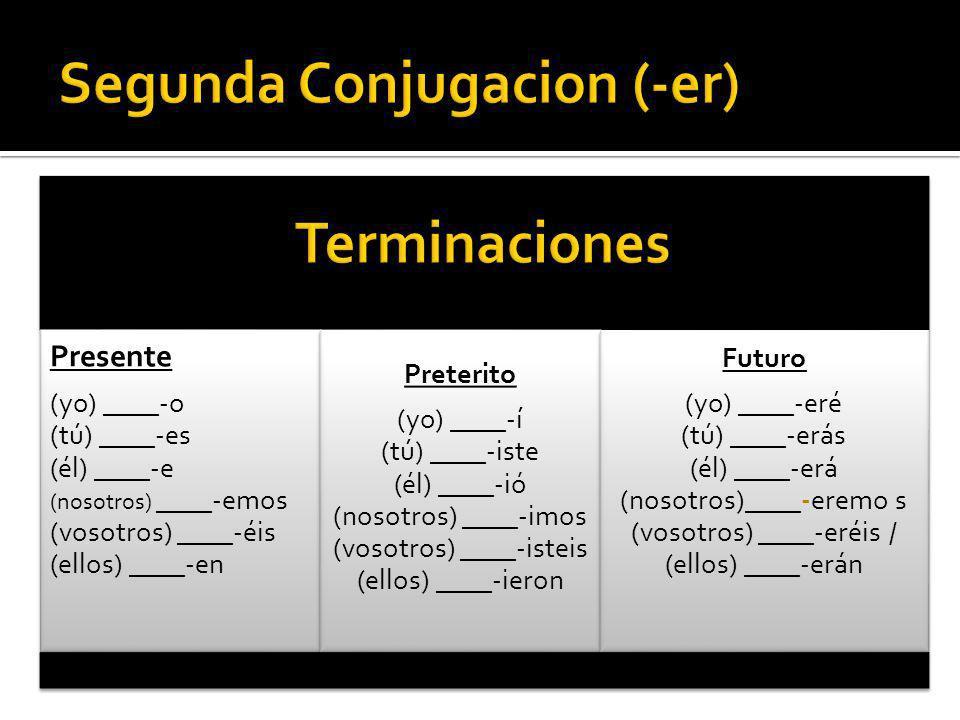 Segunda Conjugacion (-er)