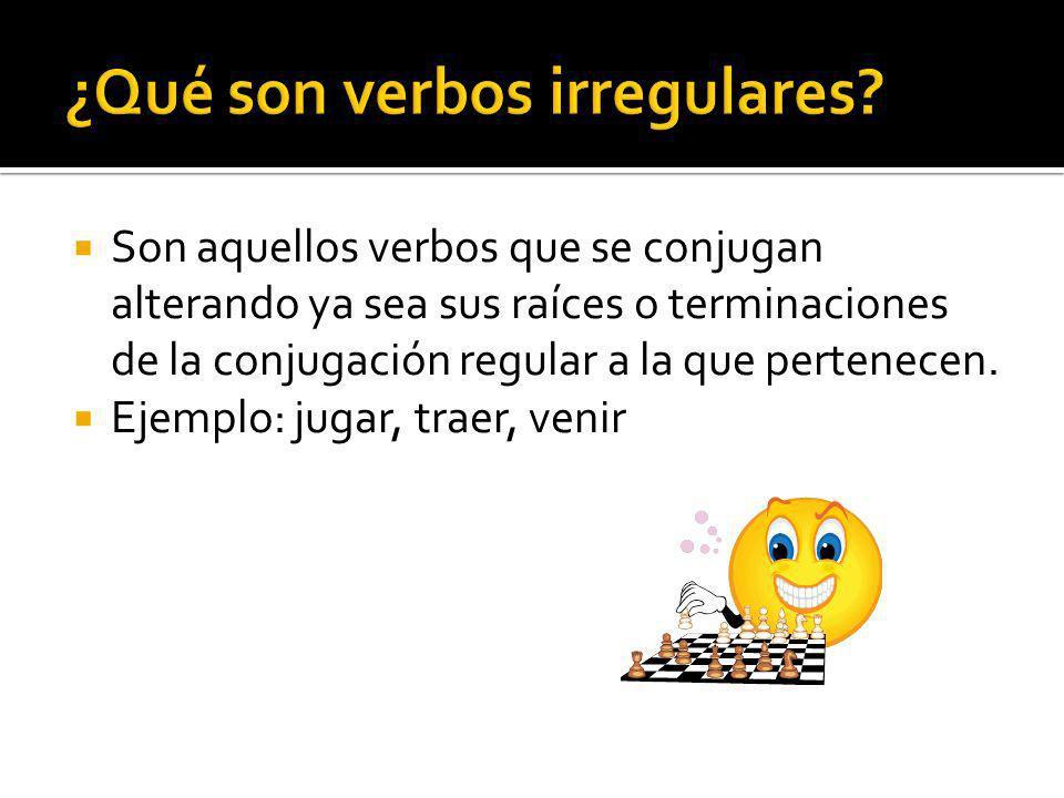 ¿Qué son verbos irregulares