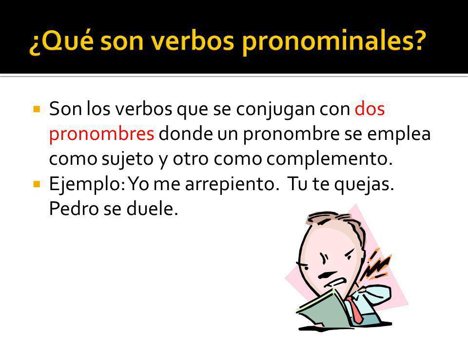 ¿Qué son verbos pronominales