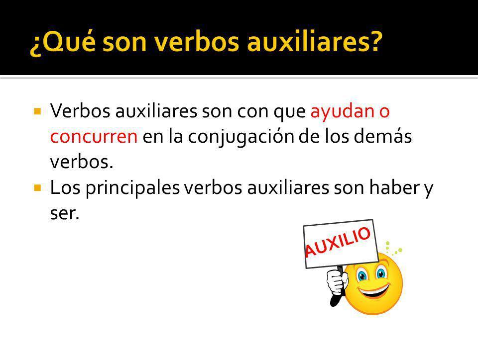 ¿Qué son verbos auxiliares