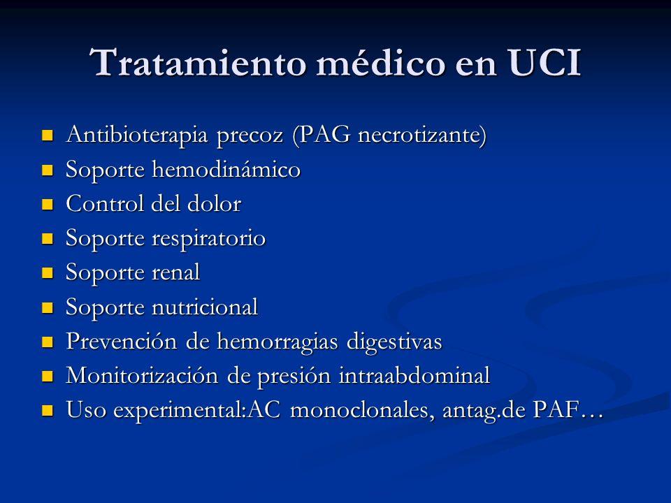 Tratamiento médico en UCI