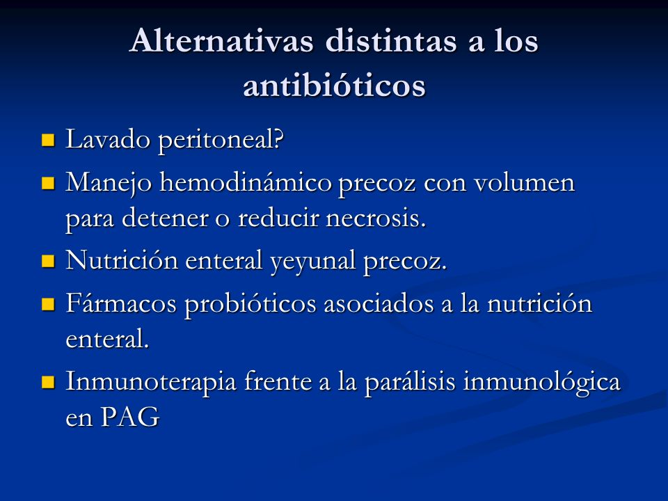 Alternativas distintas a los antibióticos