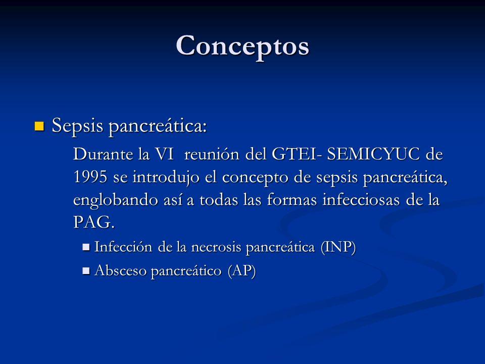 Conceptos Sepsis pancreática: