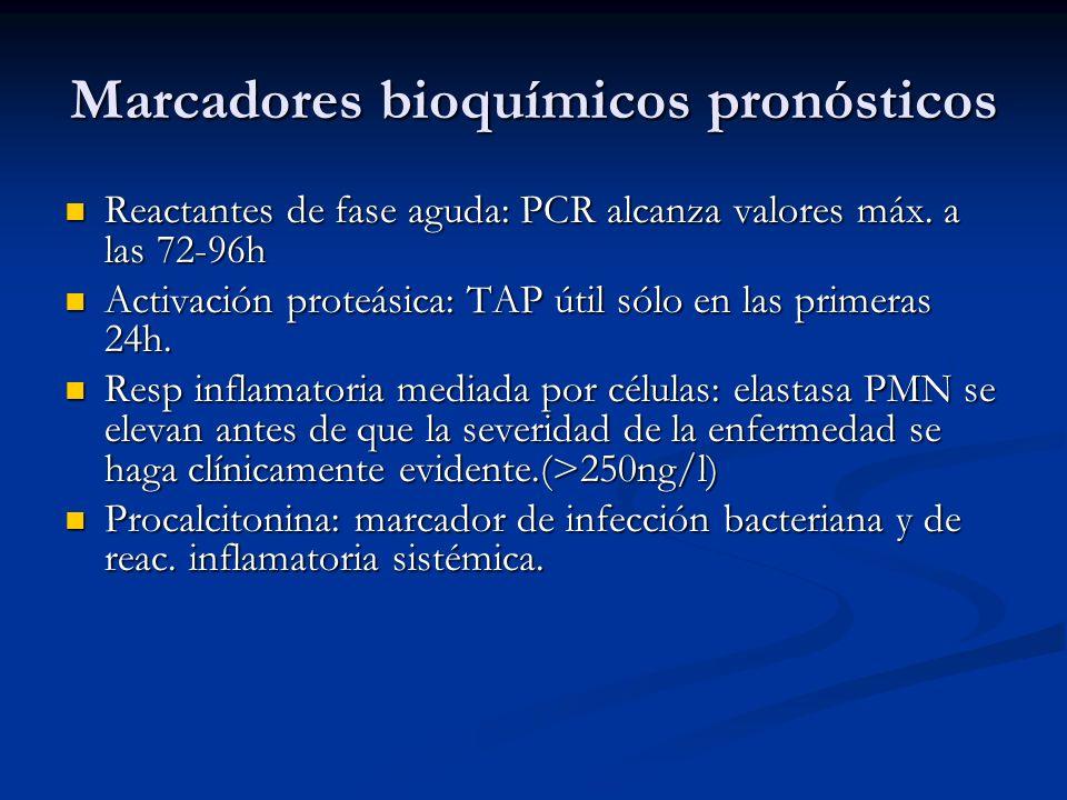 Marcadores bioquímicos pronósticos