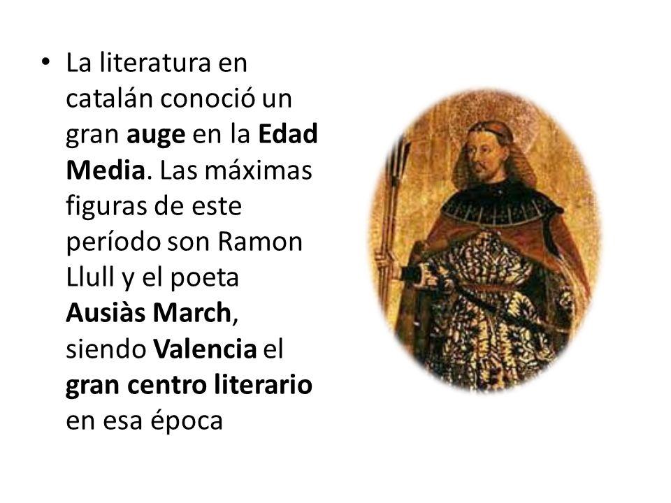 La literatura en catalán conoció un gran auge en la Edad Media