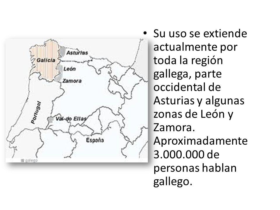 Su uso se extiende actualmente por toda la región gallega, parte occidental de Asturias y algunas zonas de León y Zamora.