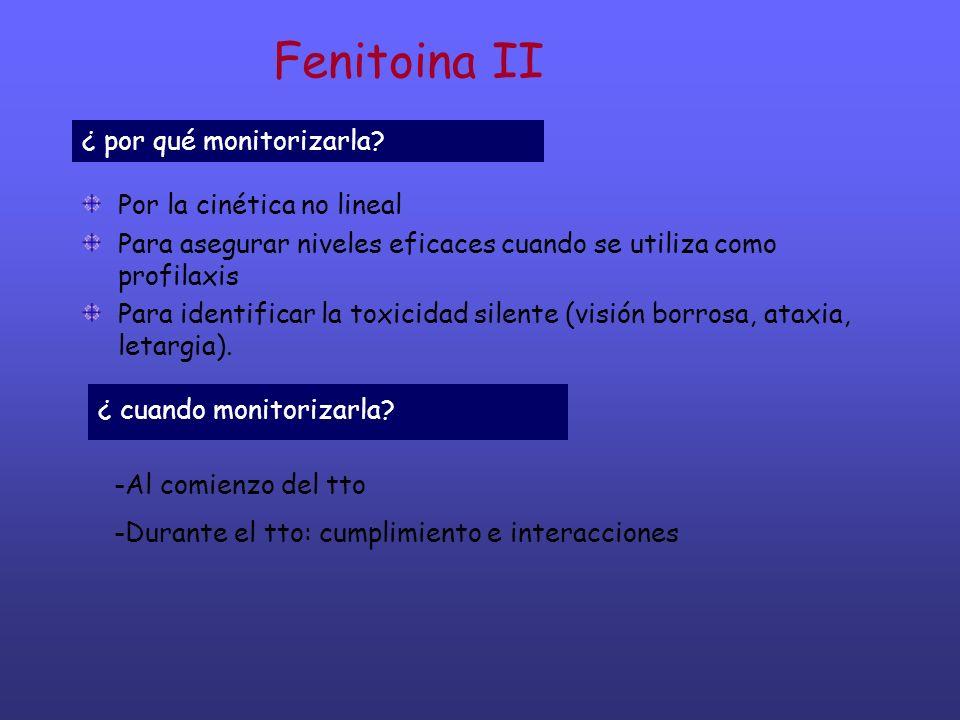 Fenitoina II ¿ por qué monitorizarla Por la cinética no lineal