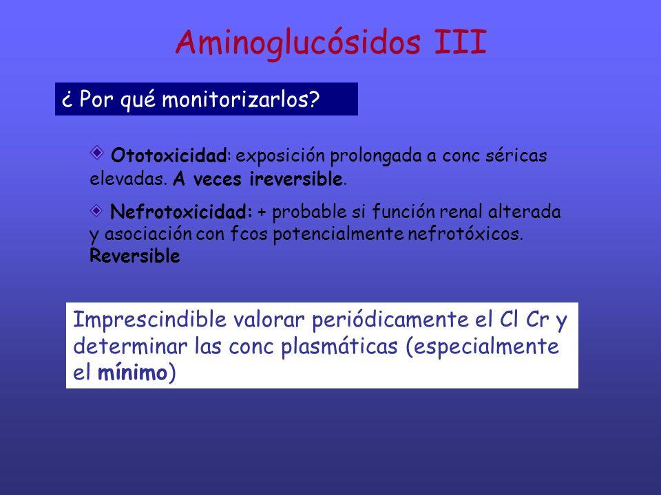 Aminoglucósidos III ¿ Por qué monitorizarlos