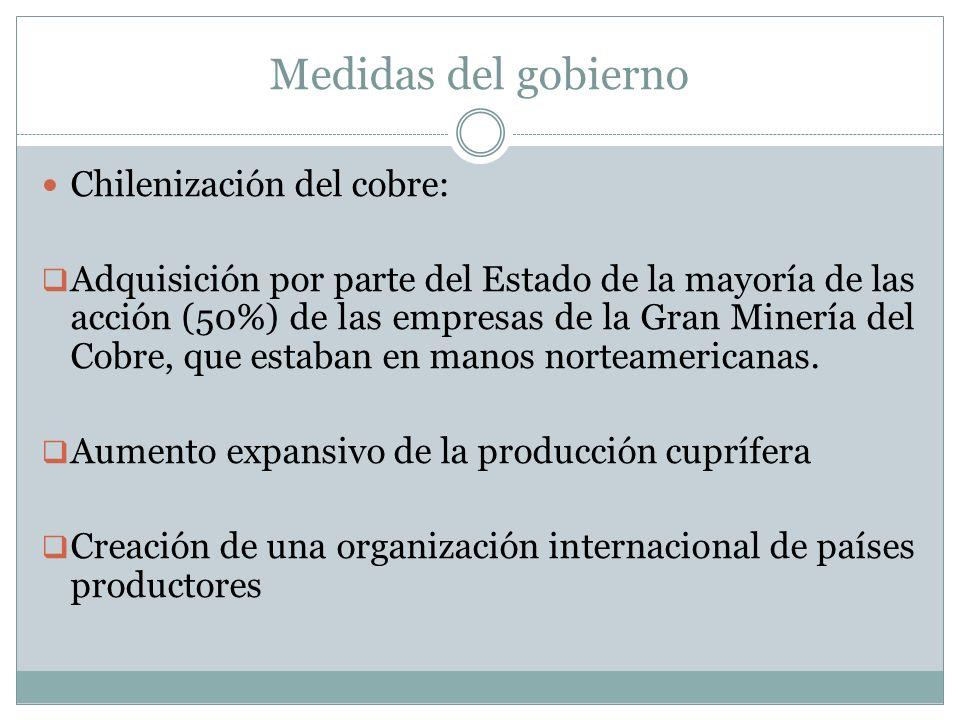 Medidas del gobierno Chilenización del cobre: