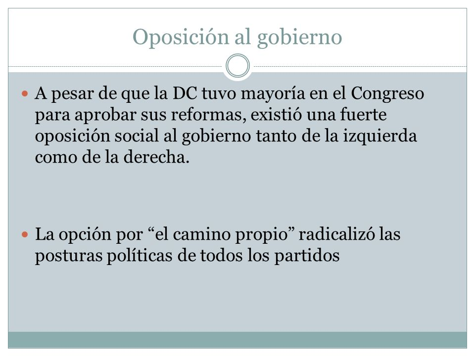 Oposición al gobierno