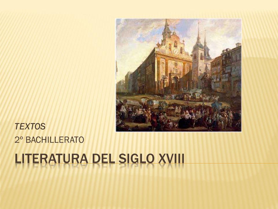 LITERATURA DEL SIGLO XVIII