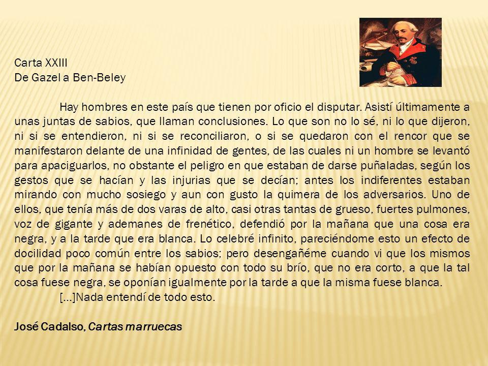 Carta XXIII De Gazel a Ben-Beley.
