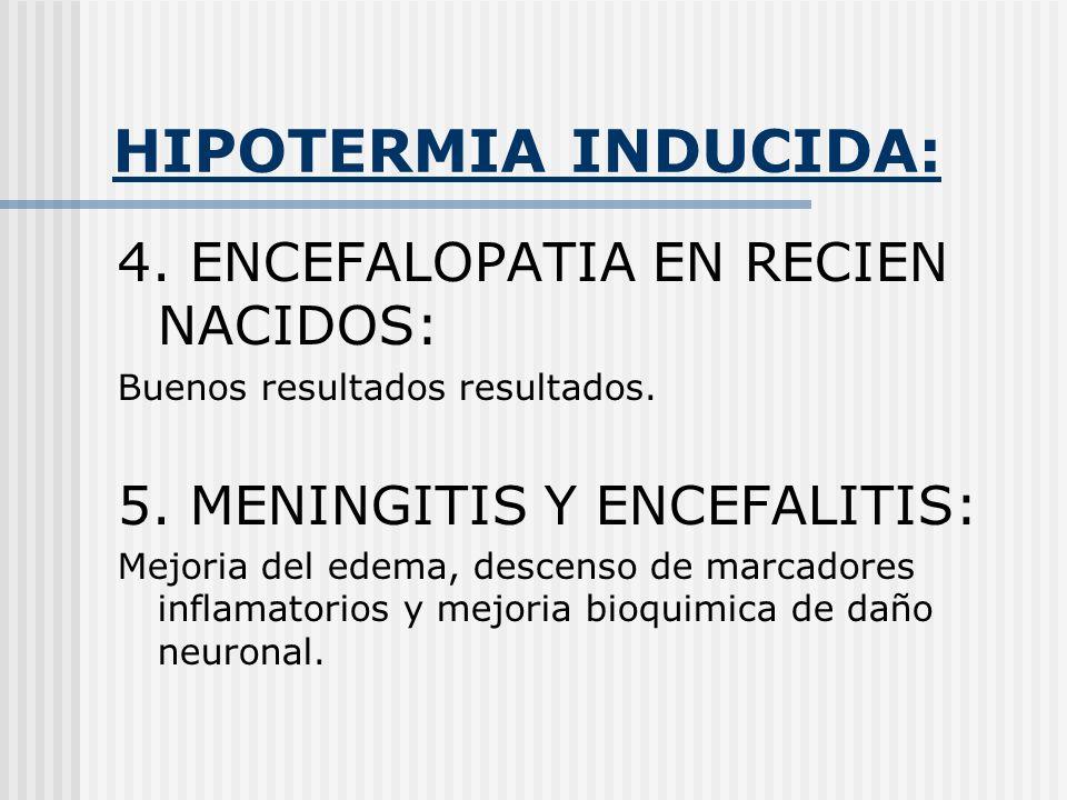 HIPOTERMIA INDUCIDA: 4. ENCEFALOPATIA EN RECIEN NACIDOS: