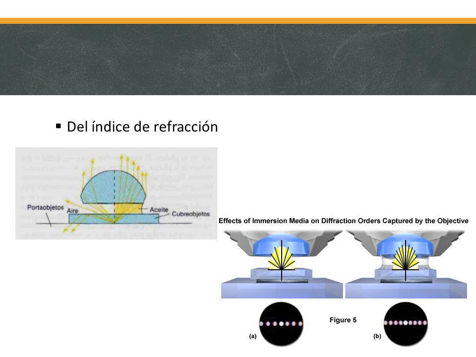 Del índice de refracción