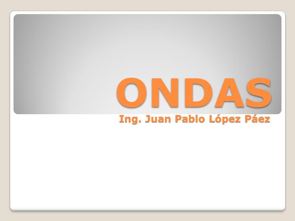 ONDAS Ing. Juan Pablo López Páez