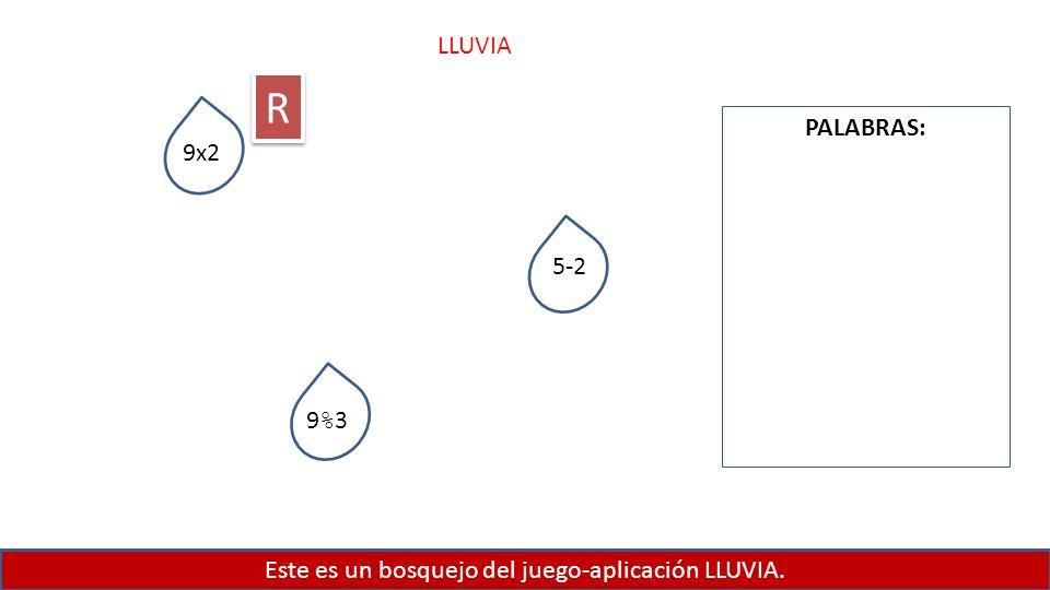 Este es un bosquejo del juego-aplicación LLUVIA.