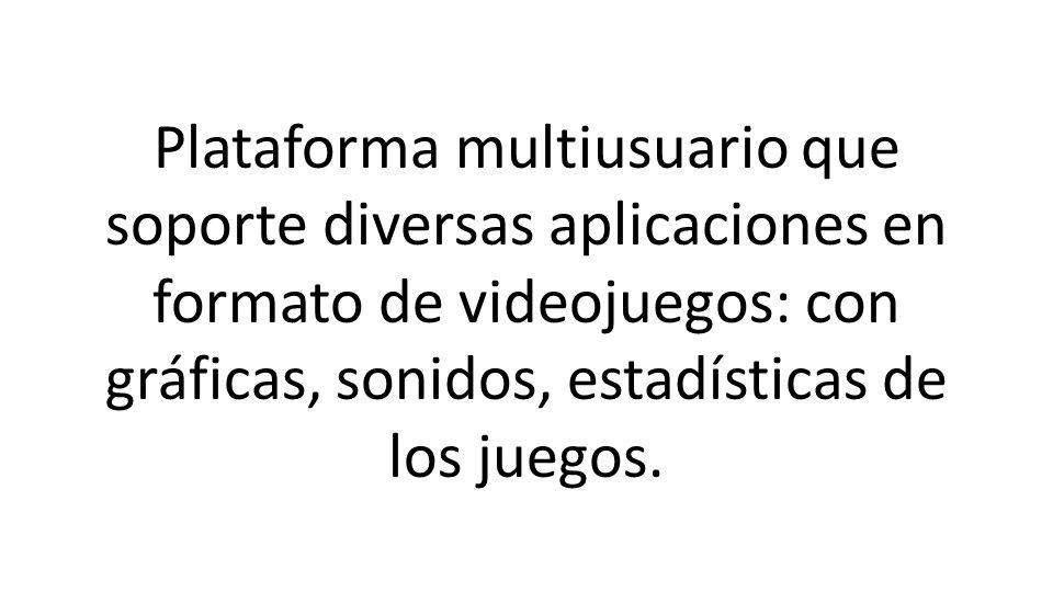 Plataforma multiusuario que soporte diversas aplicaciones en formato de videojuegos: con gráficas, sonidos, estadísticas de los juegos.