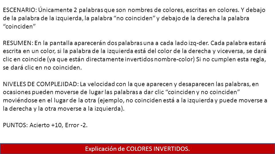 Explicación de COLORES INVERTIDOS.
