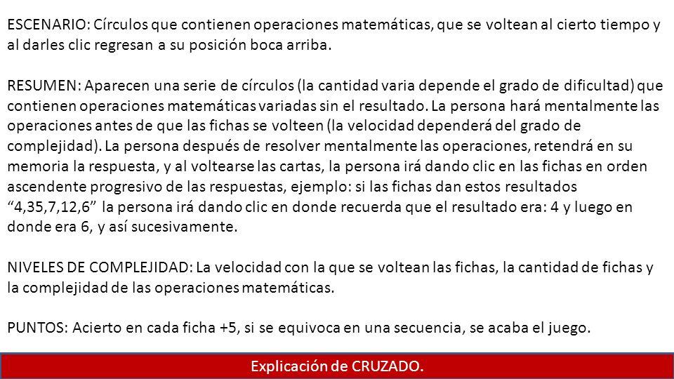 Explicación de CRUZADO.