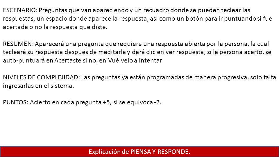 Explicación de PIENSA Y RESPONDE.