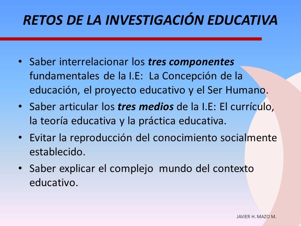 RETOS DE LA INVESTIGACIÓN EDUCATIVA