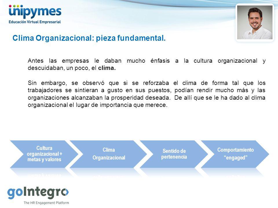 Cultura organizacional + metas y valores Sentido de pertenencia