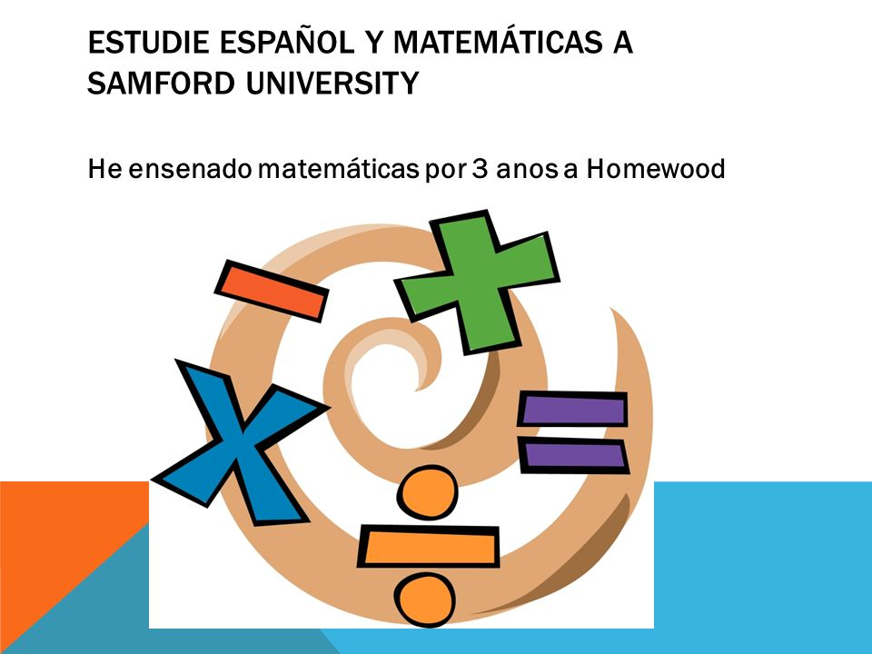 Estudie español y matemáticas A Samford University