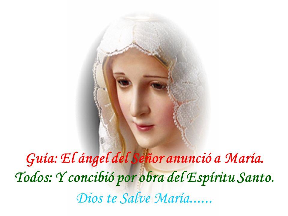 Guía: El ángel del Señor anunció a María